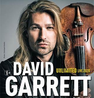 Дэвид Гарретт совершает свое захватывающее мировое турне «UNLIMITED LIVE»